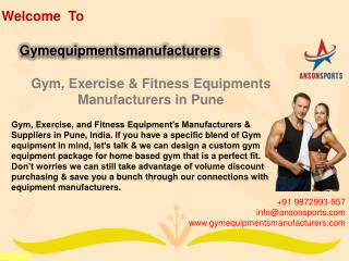 Gym, Exercise & Fitness Equipments Manufacturers in Pune