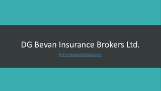 DG Bevan Insurance Brokers Ltd.