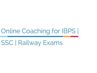 Coaching for Bank & Railway Exam Preparation