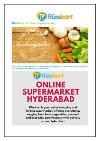 Online Grocery Shopping Hyderabad
