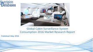 Worldwide Cabin Surveillance System Consumption Industry Analysis and Revenue Forecast 2016
