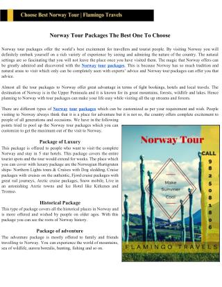 Norway Tour Packages The Best One To Choose
