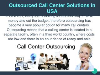 Outsourced Call Center Solutions in USA