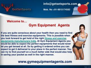 Ensure of finding the best fitness and exercise equipments manufacturers India