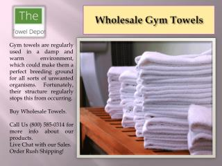 Towel Depot Wholesale Gym Towels