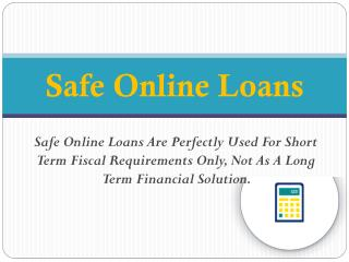 Safe Online Loans Expose Financial Coercion Within Budget