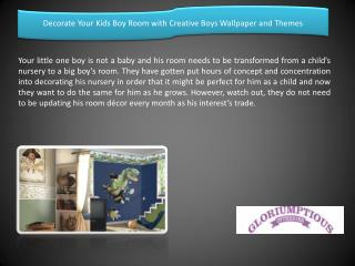 Decorate Your Kids Boy Room with Creative Boys Wallpaper and Themes