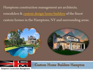 Custom Home Builders Hampton