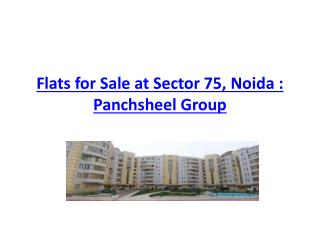 Flats for Sale at Sector 75, Noida : Panchsheel Group