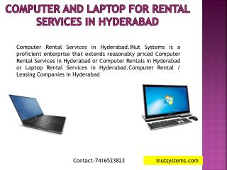 computer and laptop for rental services in hyderabad