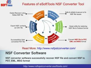 Convert NSF to PST, EML, MSG