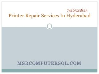 Printer Repair Services in Hyderabad