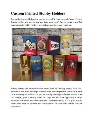 Custom Printed Stubby Holders
