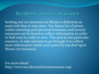 Accident sickness insurance