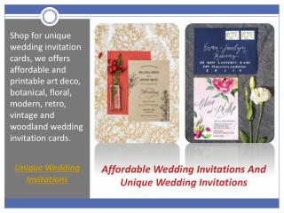 Affordable Wedding Invitations And Unique Wedding Invitations