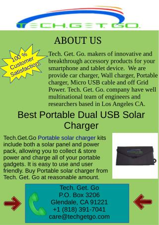 Best Portable Dual USB Solar Charger