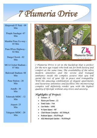 7 Plumeria Drive at Tathawade Pune by Bhandari Associates