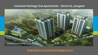 Conscient Heritage One Apartments In Sector 62 ,Gurgaon
