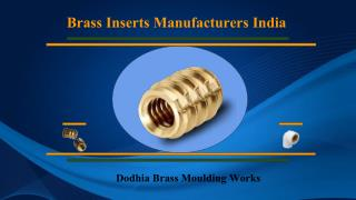 Brass Inserts Length, Threads and Features