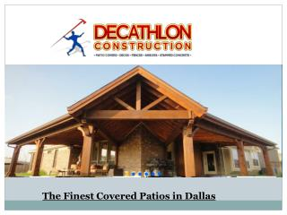 The Finest Covered Patios in Dallas