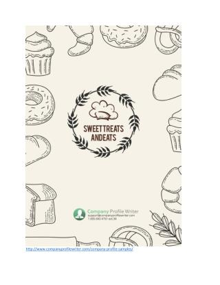 Bakery Company Profile Template