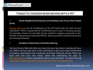 Moving With a Pet? See What to Consider?