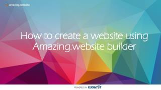 Design a Website Using Amazing.website Builder in 5 Minutes