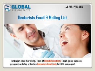 Denturists Email & Mailing List