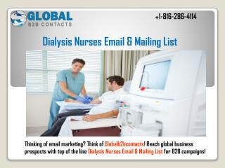 Dialysis Nurses Email & Mailing List