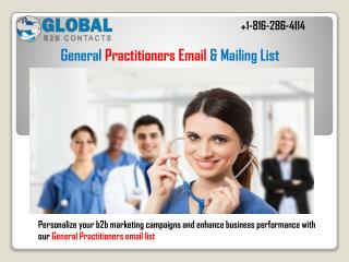 General practitioners Email & Mailing List