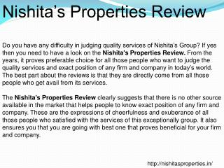 Nishitas Properties Review