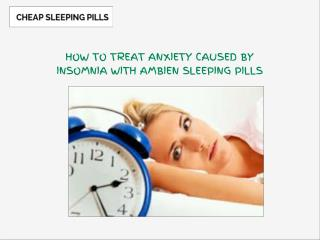 Ambien Sleeping Pills Are Most Effective In Insomnia