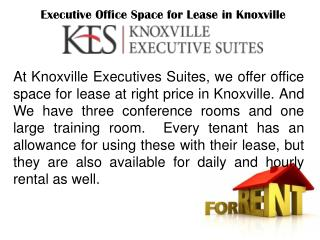 Executive Corporate Office Space for Lease in Knoxville