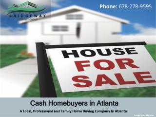 A Local, Professional and Family Home Buying Company In Atlanta