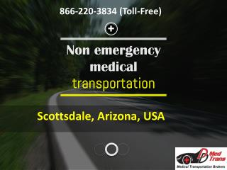 Reserve an appropriate Non emergency medical ride in Arizona, USA