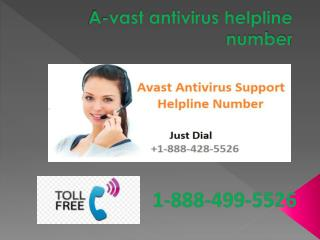 Avast  Antivirus Technical Support Number 1 888 499 5526