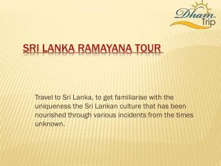 Best Sri Lanka Ramayana tour packages
