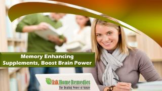 Memory Enhancing Supplements, Boost Brain Power
