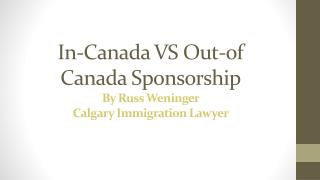 In or Out Canadian Sponsorship
