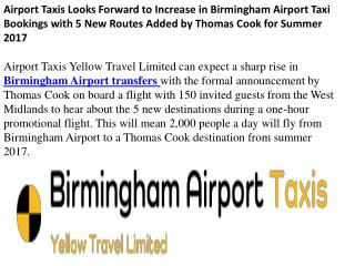 Taxis to Birmingham Airport
