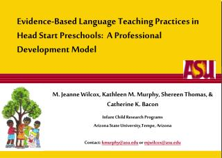 Evidence-Based Language Teaching Practices in Head Start Preschools:  A Professional Development Model