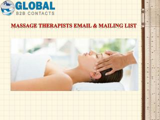 Massage therapists Email & Mailing List