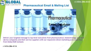 Pharmaceutical Email & Mailing List