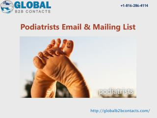 Podiatrists Email & Mailing List