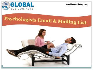 Psychologists Email & Mailing List