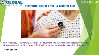 Pulmonologists Email & Mailing List