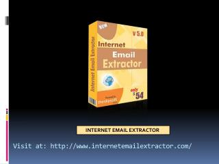 How to use Internet email extractor tool