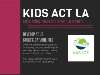 Kids Act LA Acting Classes