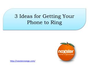 3 Ideas for Getting Your Phone to Ring
