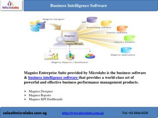 Business intelligence and erp software in singapore